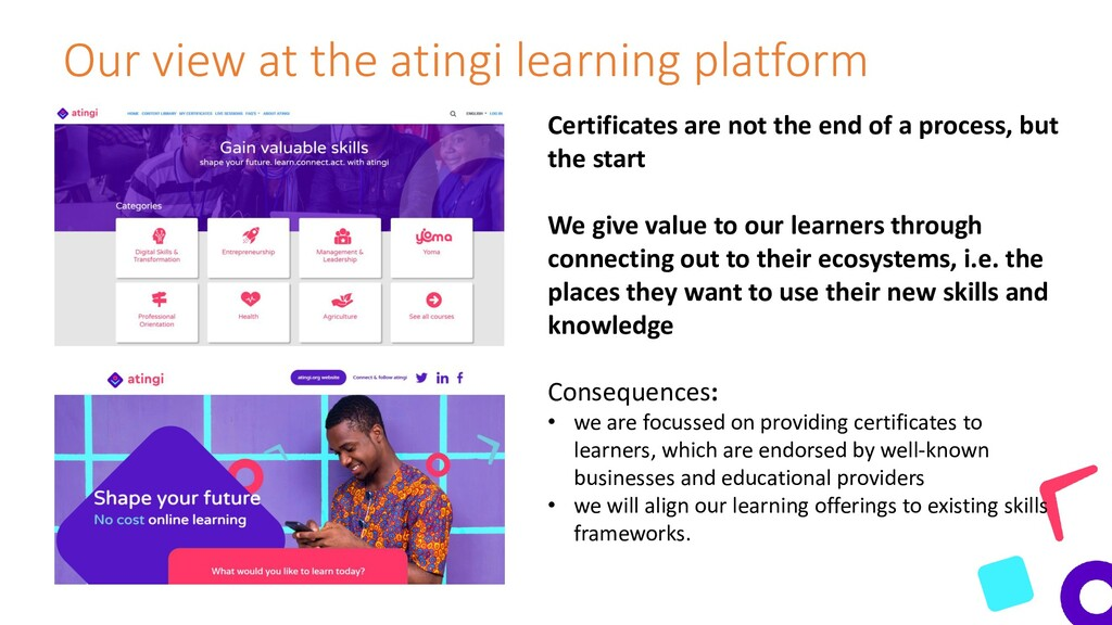 Our view at the atingi learning platform Certif...