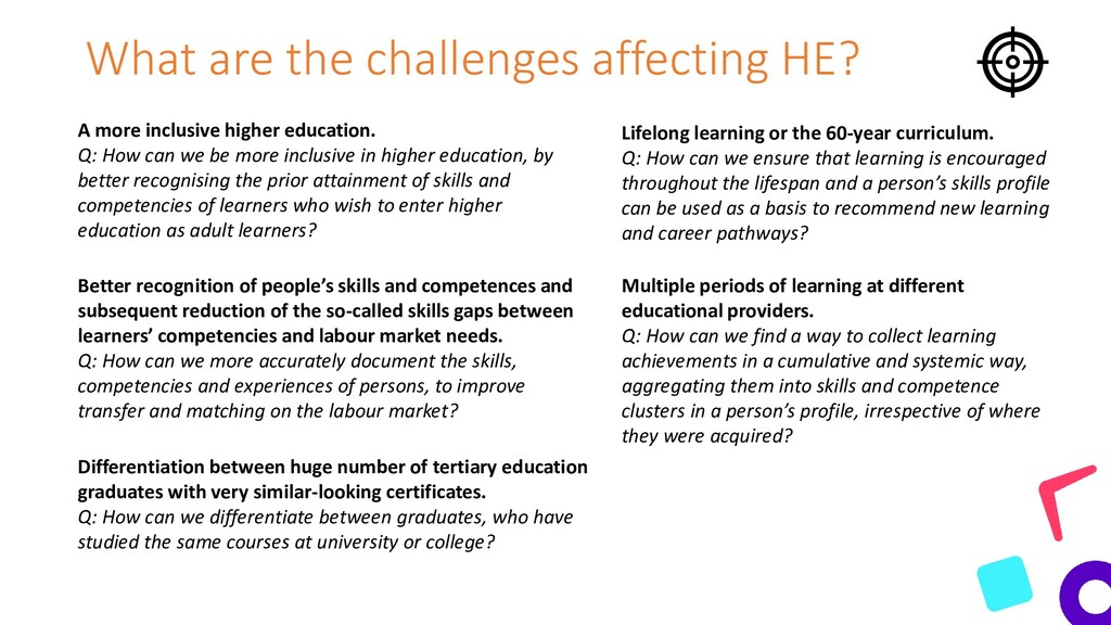 What are the challenges affecting HE? A more in...