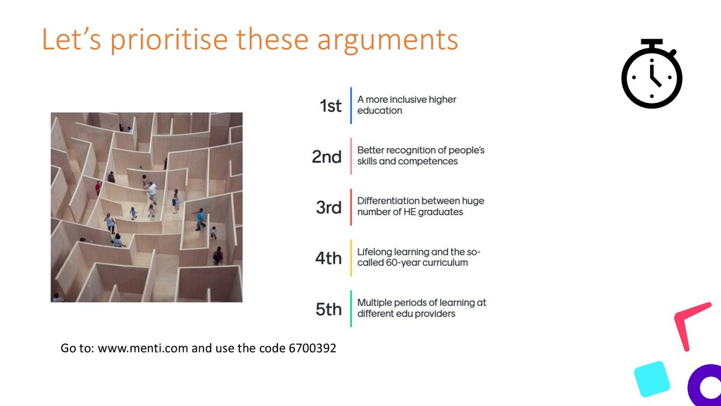 Let's prioritise these arguments Go to: www.men...