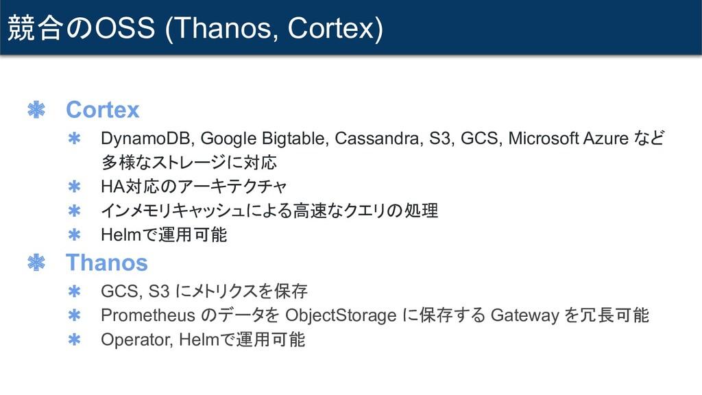 ✱ Cortex ✱ DynamoDB, Google Bigtable, Cassandra...
