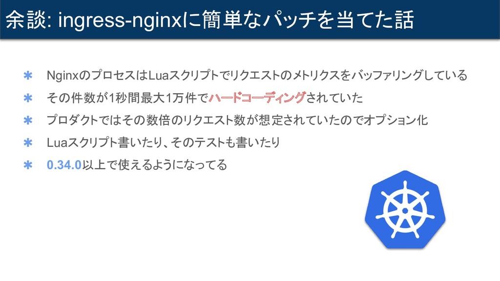 ✱ NginxのプロセスはLuaスクリプトでリクエストのメトリクスをバッファリングしている ✱...