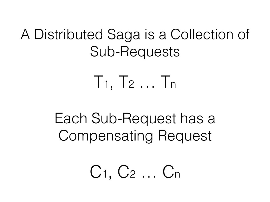 A Distributed Saga is a Collection of Sub-Reque...