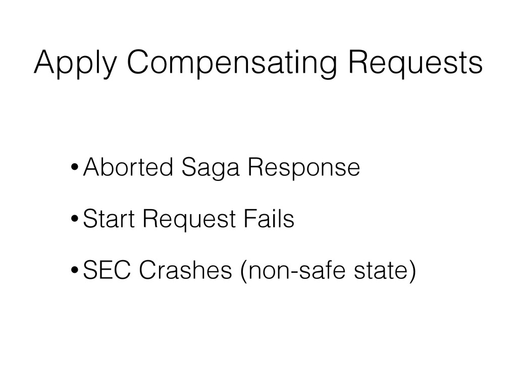 Apply Compensating Requests • Aborted Saga Resp...