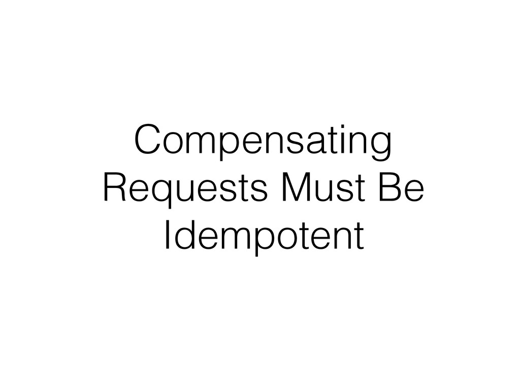 Compensating Requests Must Be Idempotent