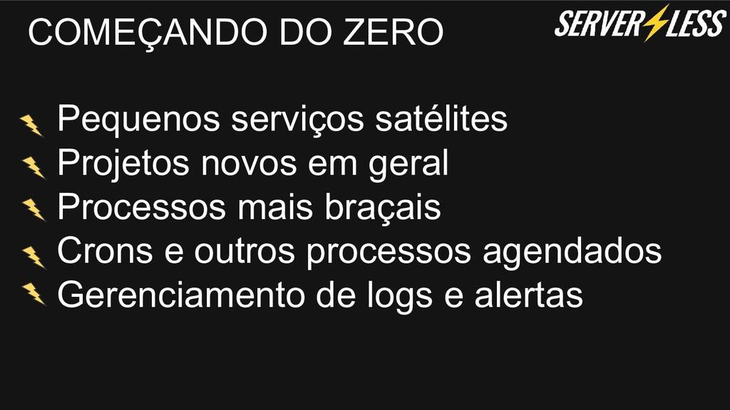 COMEÇANDO DO ZERO Pequenos serviços satélites P...