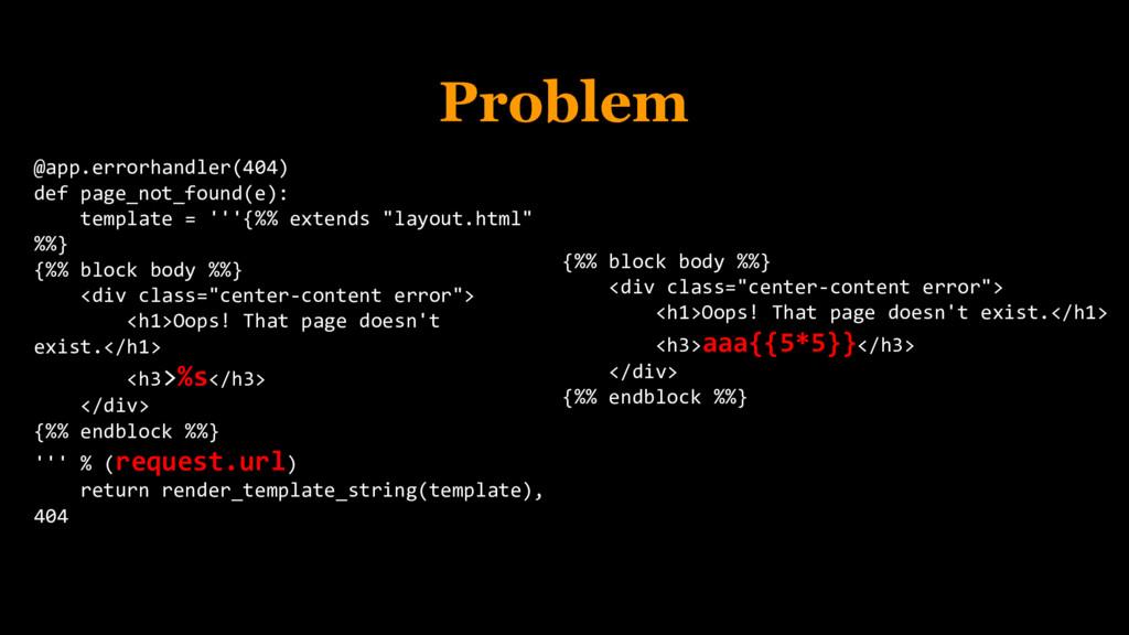 Problem @app.errorhandler(404) def page_not_fou...