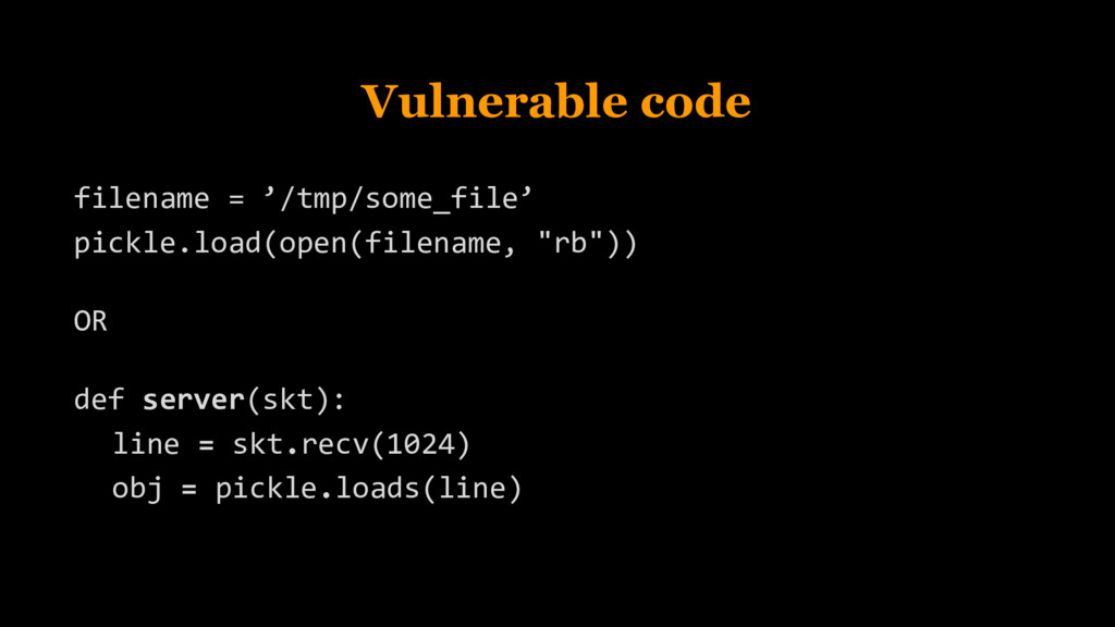 Vulnerable code filename = '/tmp/some_file' pic...