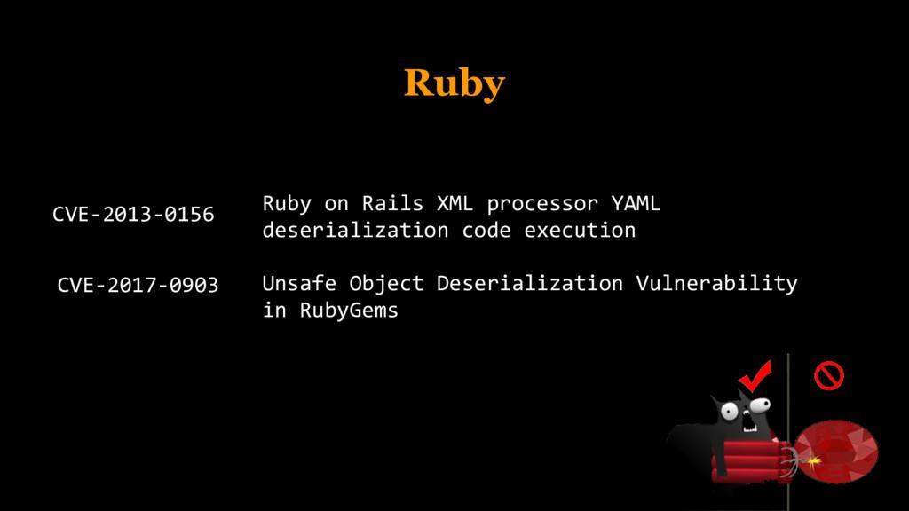Ruby CVE-2013-0156 Ruby on Rails XML processor ...