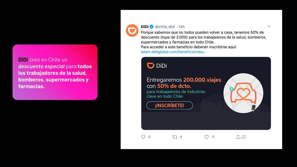 DiDi creó en Chile un descuento especial para t...