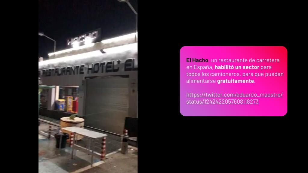 El Hacho, un restaurante de carretera en España...