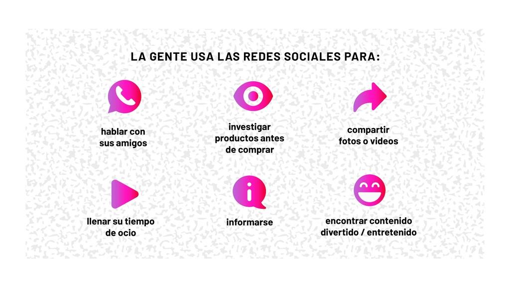 informarse LA GENTE USA LAS REDES SOCIALES PARA...