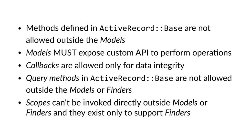 • Methods defined in ActiveRecord::Base are not ...
