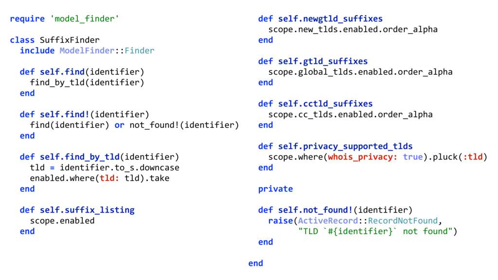require 'model_finder'  class SuffixFinder i...