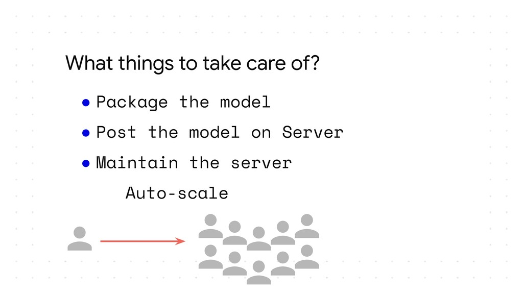 ● Package the model ● Post the model on Server ...