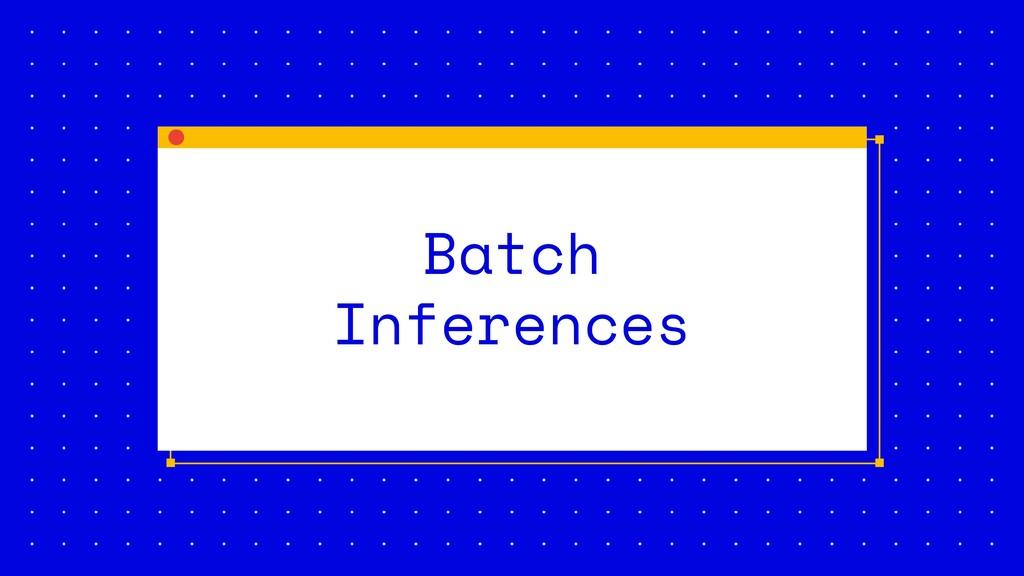 Batch Inferences