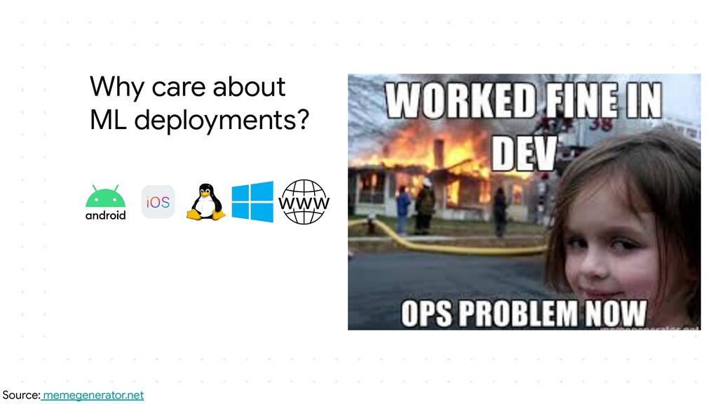 Why care about ML deployments? Source: memegene...