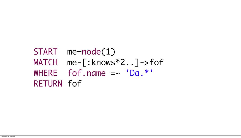 START me=node(1) MATCH me-[:knows*2..]->fof WHE...