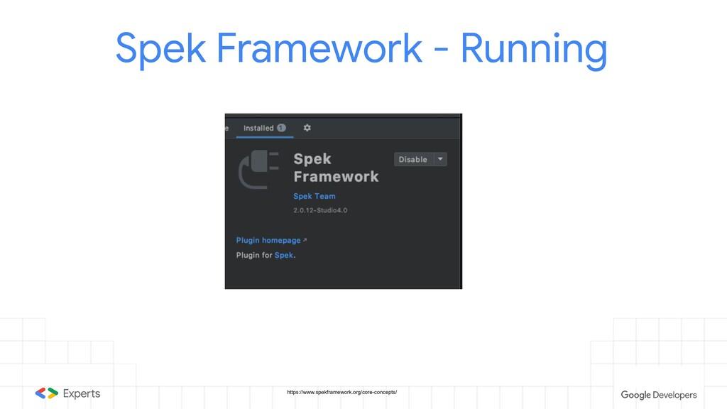 Spek Framework - Running https://www.spekframew...