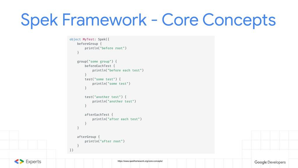 Spek Framework - Core Concepts https://www.spek...