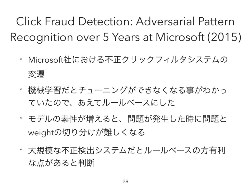 Click Fraud Detection: Adversarial Pattern Reco...
