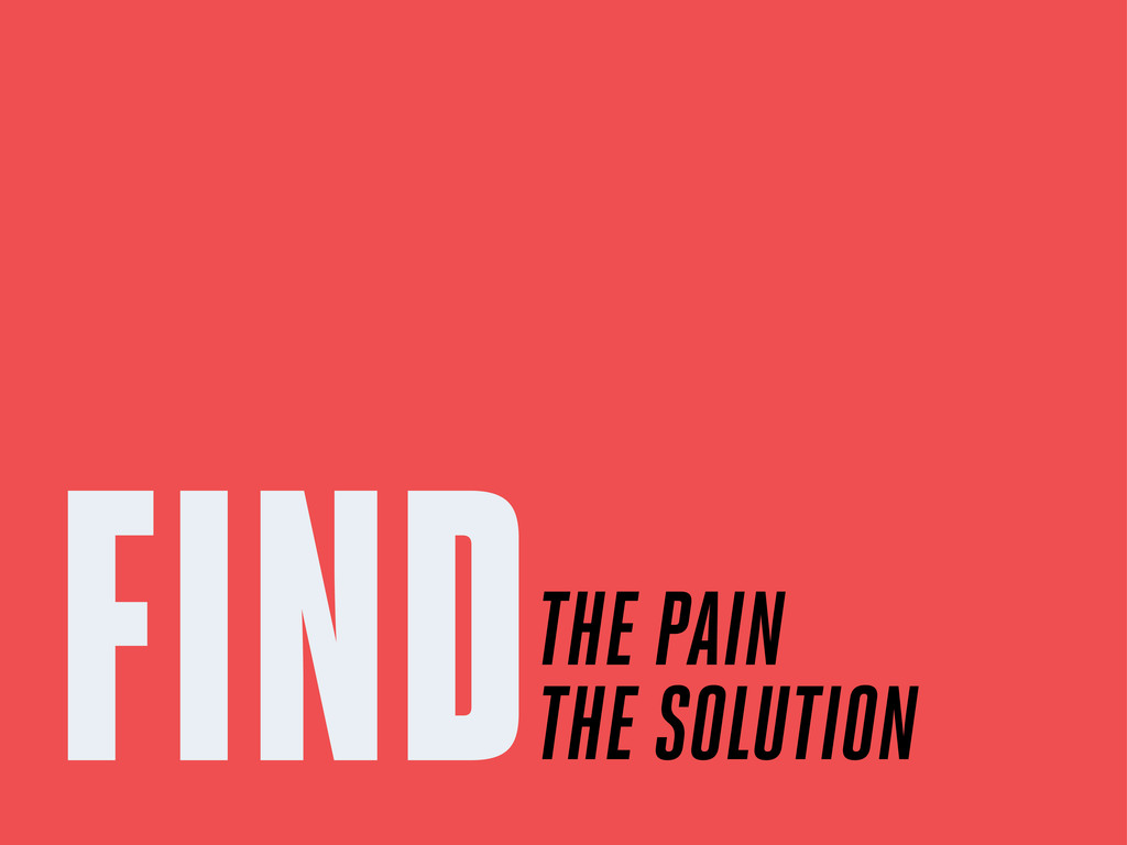 FINDTHE PAIN THE SOLUTION
