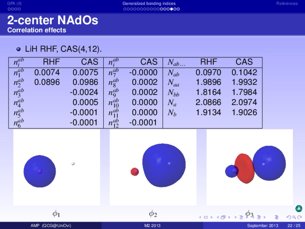 GPA (II) Generalized bonding indices References...