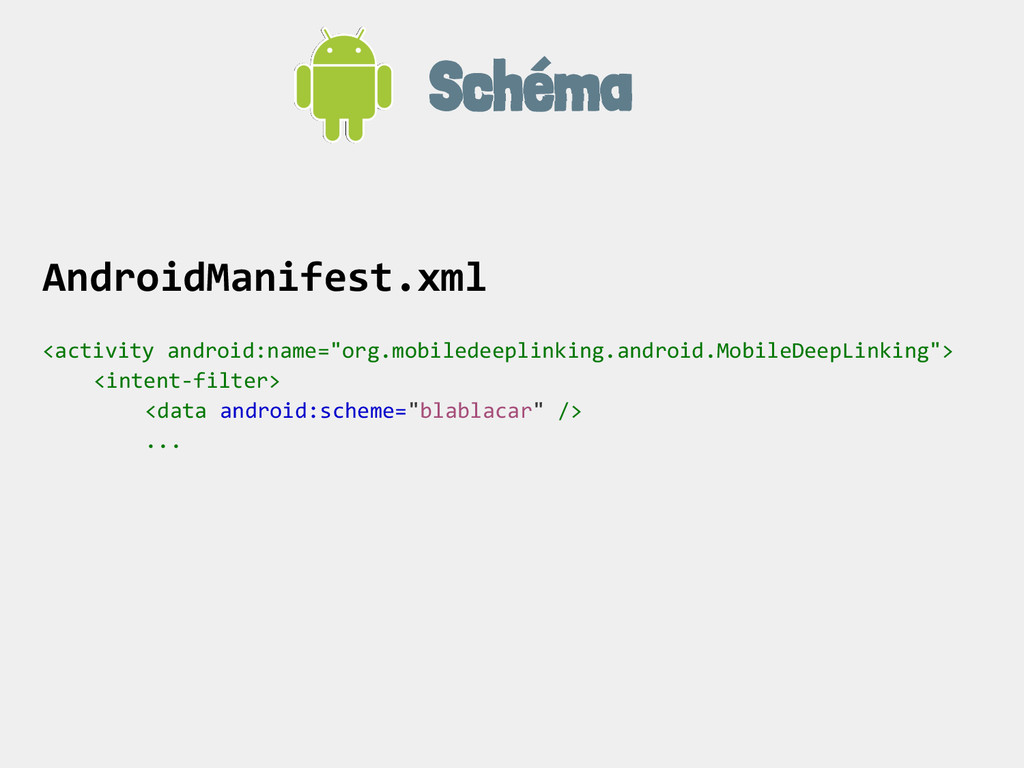 Schéma AndroidManifest.xml <activity android:na...