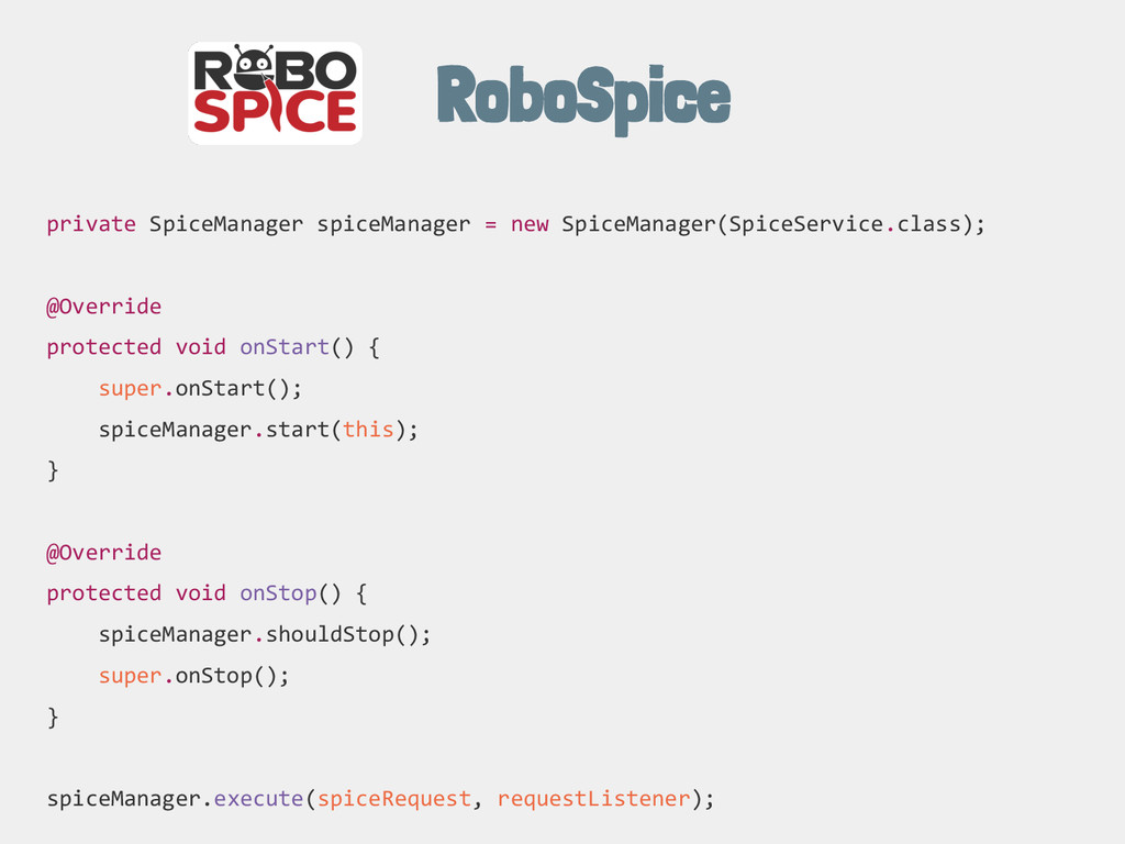 RoboSpice private SpiceManager spiceManager = n...