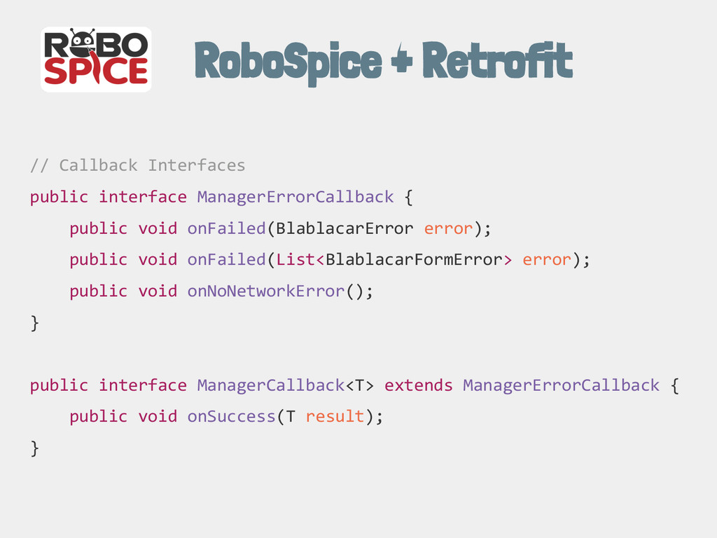 RoboSpice + Retrofit // Callback Interfaces pub...