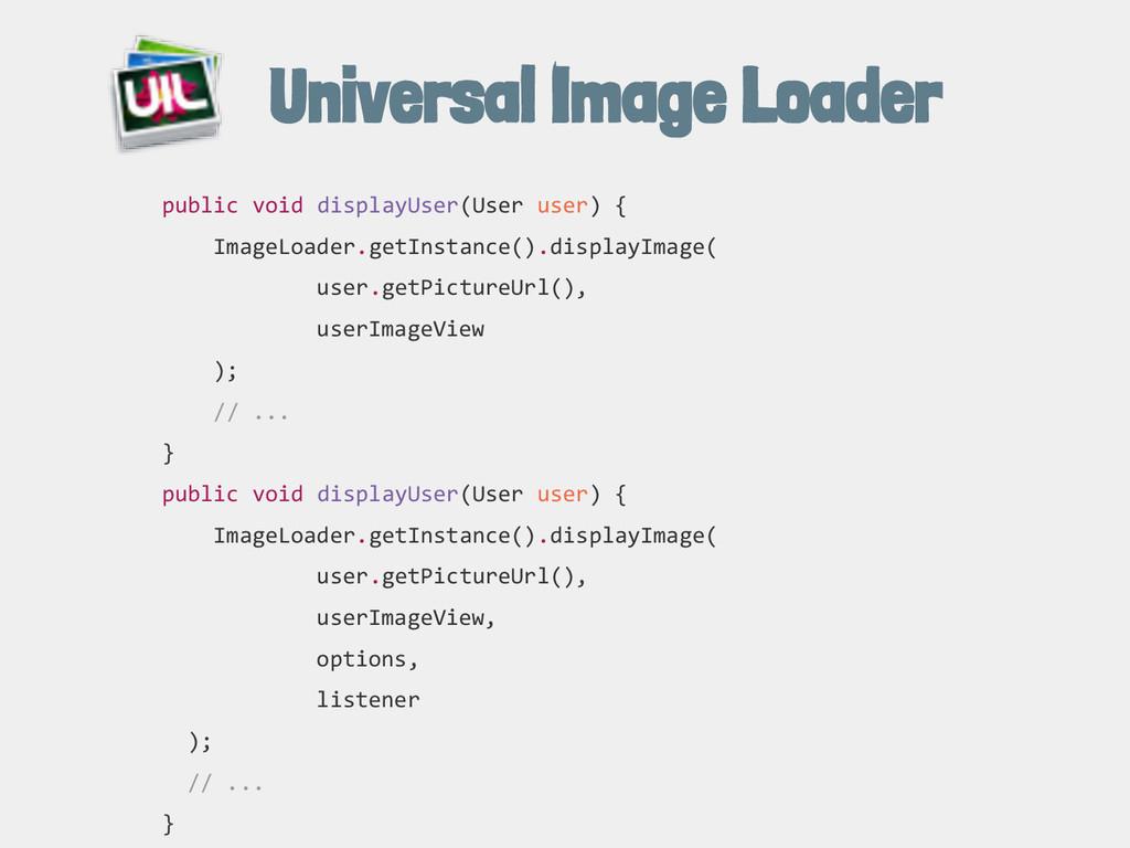 Universal Image Loader public void displayUser(...