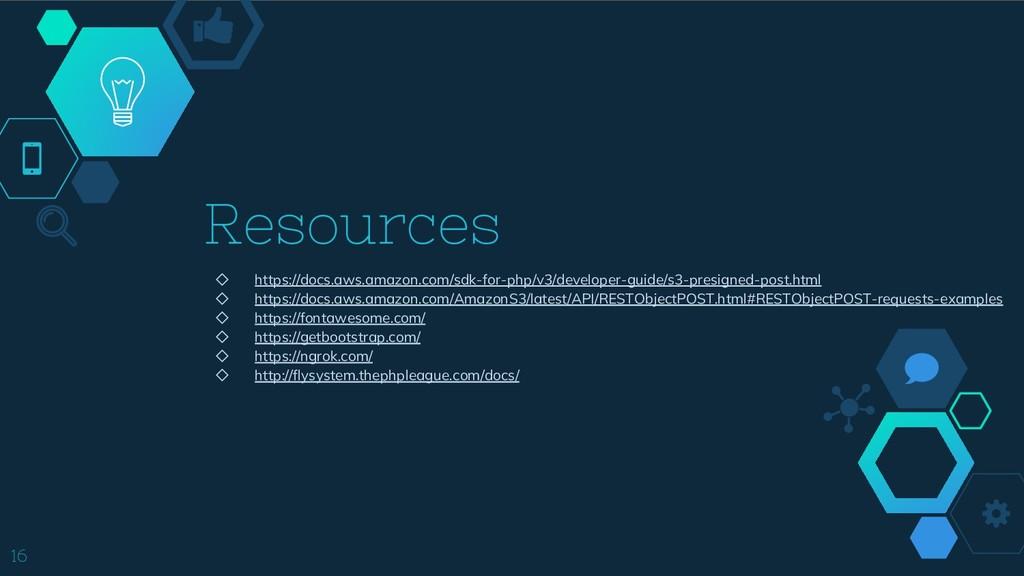 Resources ◇ https://docs.aws.amazon.com/sdk-for...