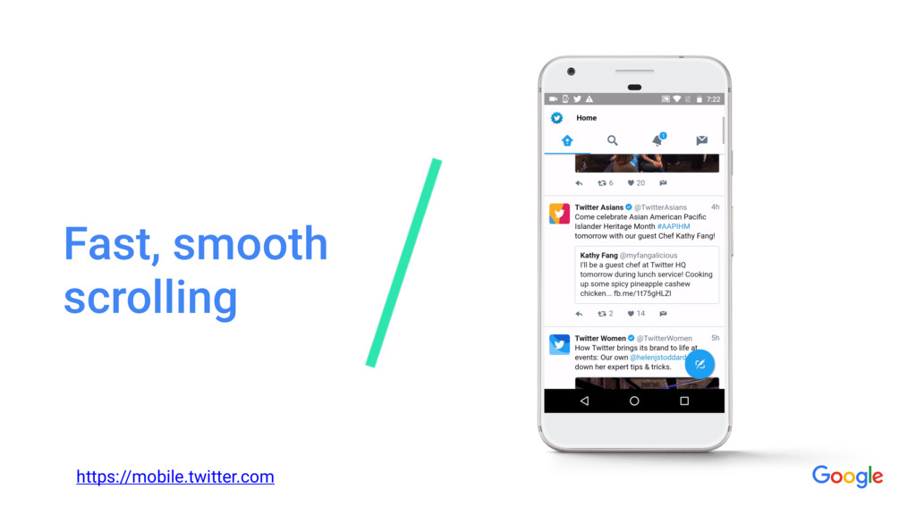 Fast, smooth scrolling https://mobile.twitter.c...