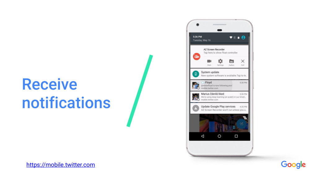 Receive notifications https://mobile.twitter.com