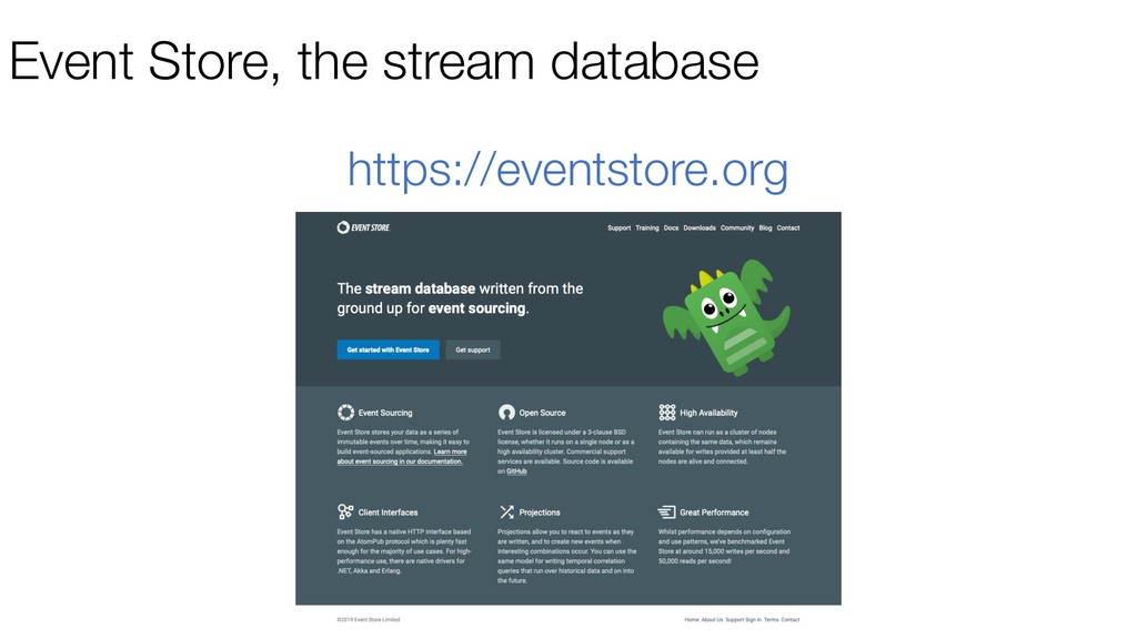 Event Store, the stream database https://events...