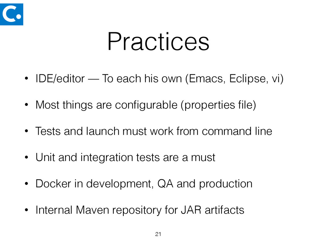 Practices • IDE/editor — To each his own (Emacs...