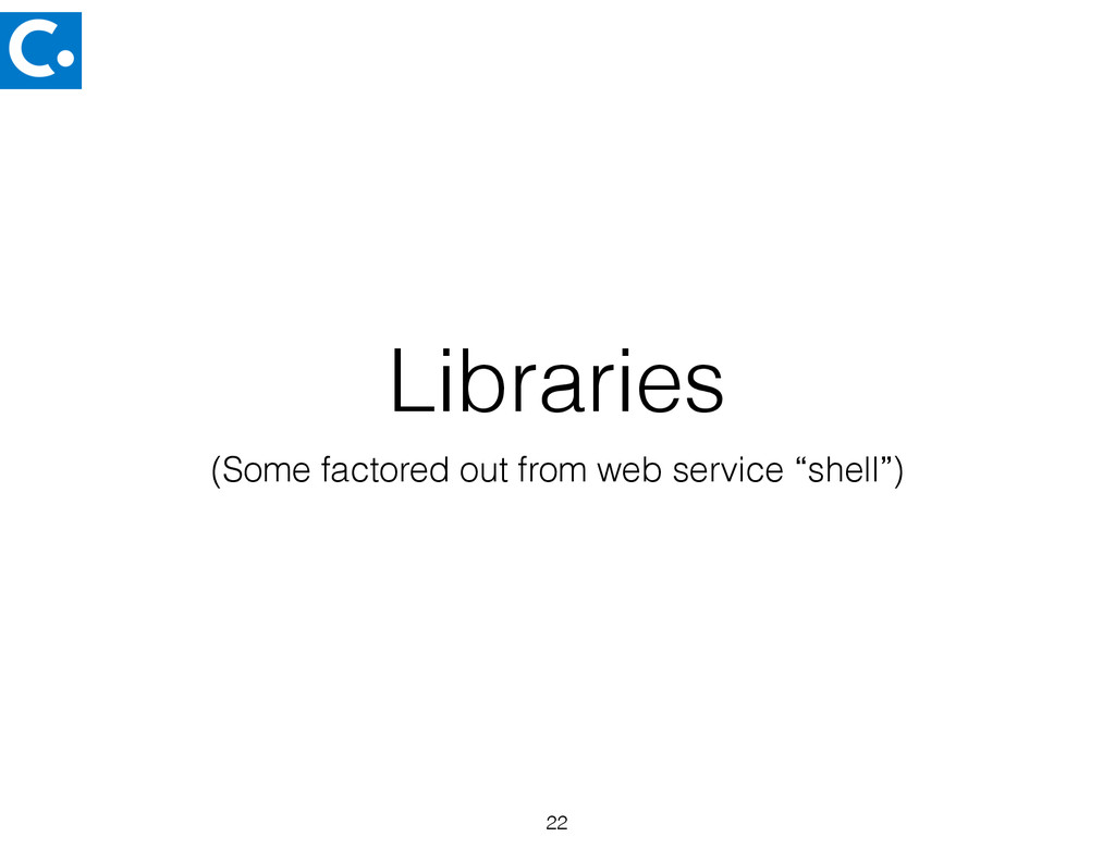 "Libraries (Some factored out from web service ""..."