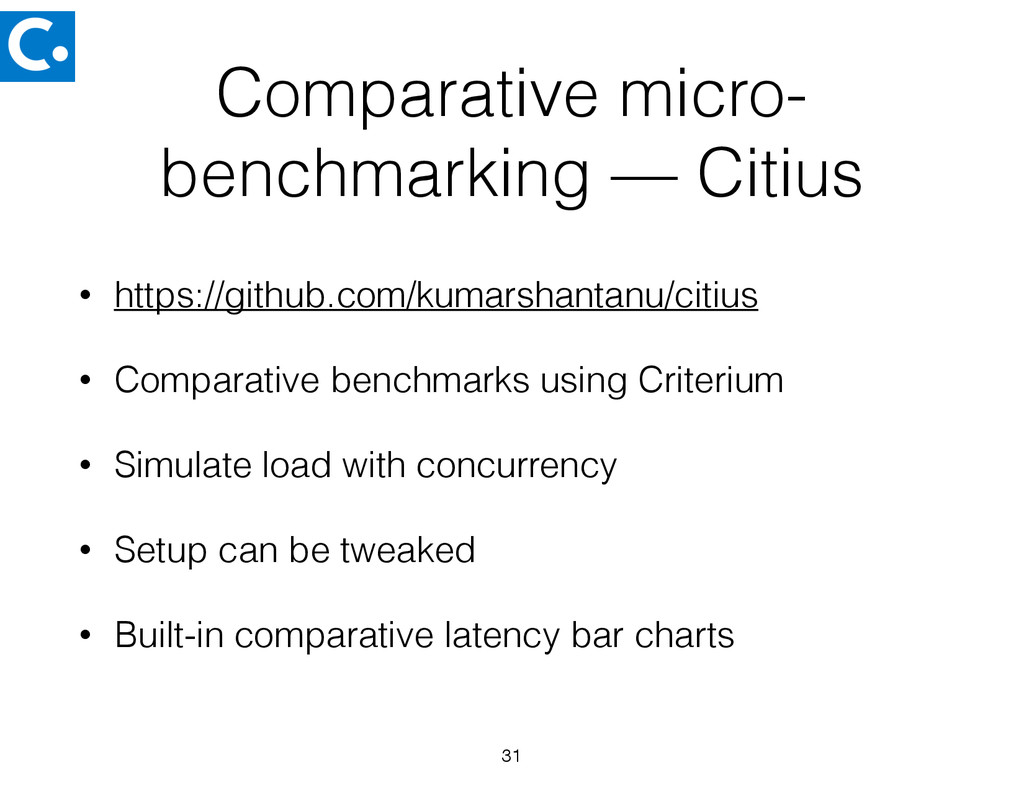 Comparative micro- benchmarking — Citius • http...
