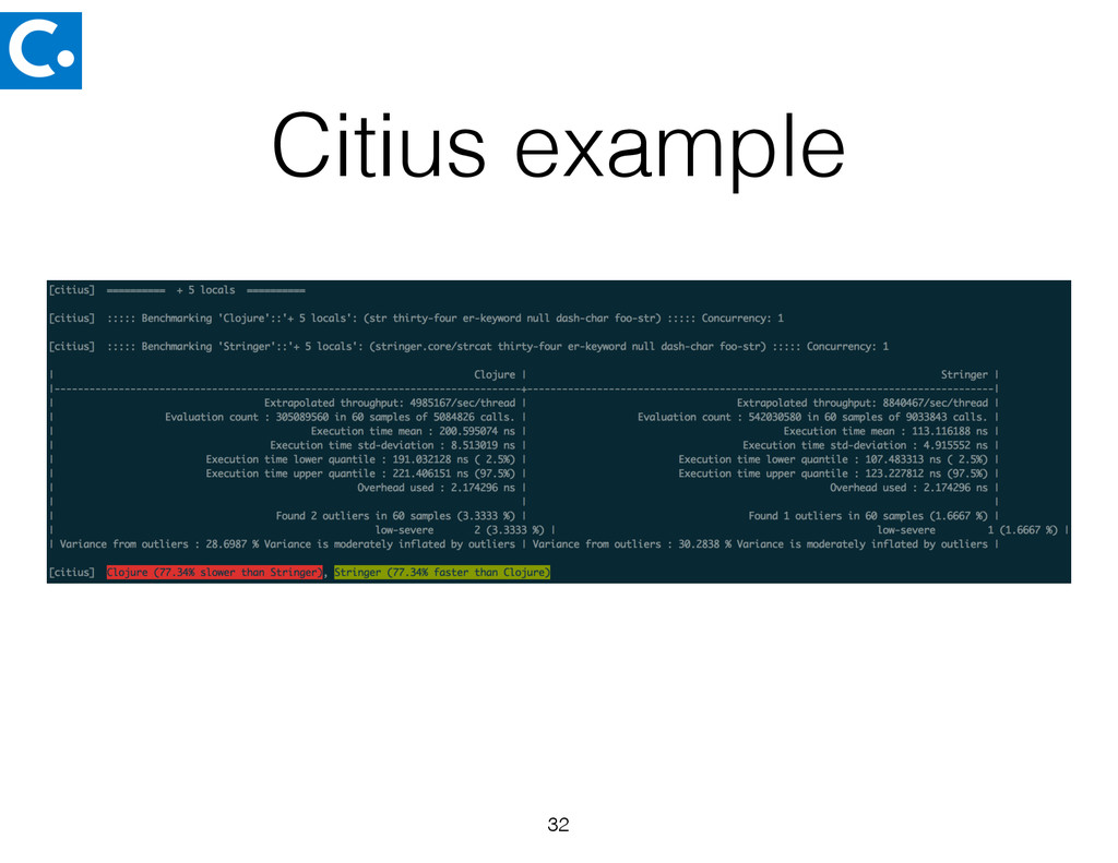 Citius example 32
