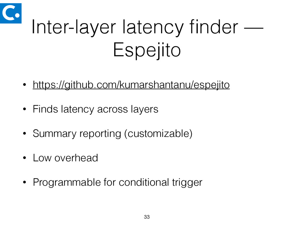 Inter-layer latency finder — Espejito • https://...
