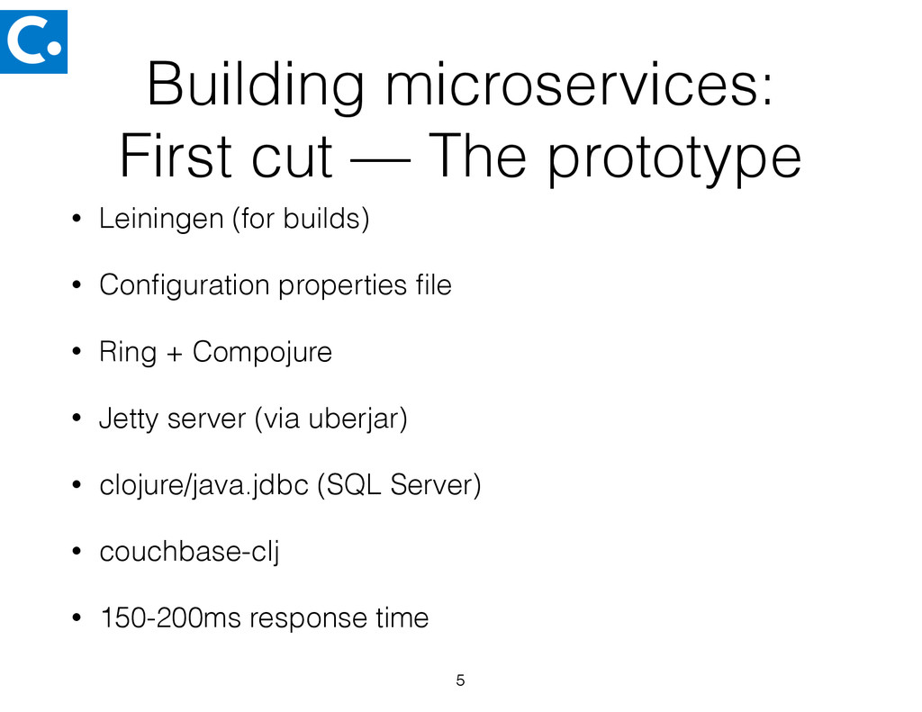 Building microservices: