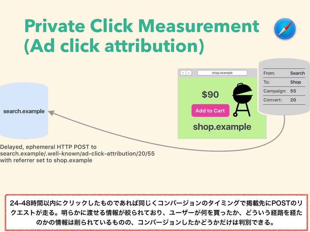 Private Click Measurement (Ad click attribution...