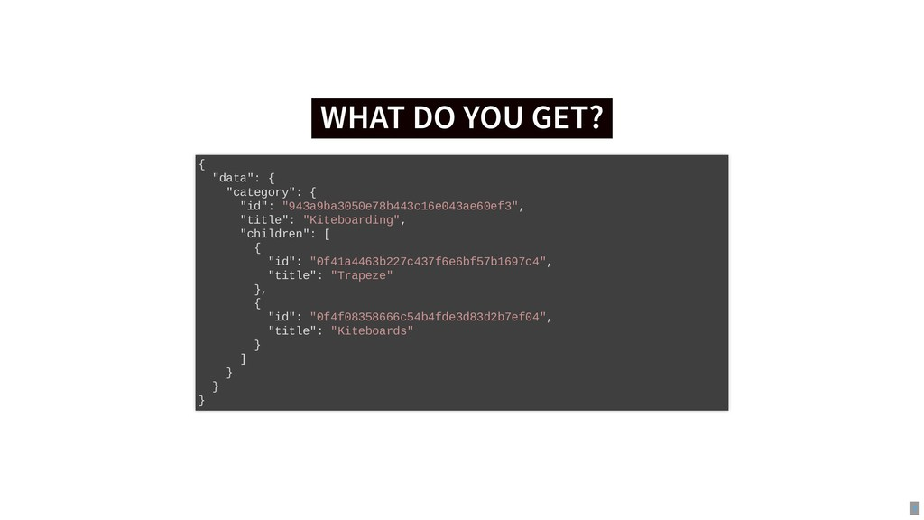 """WHAT DO YOU GET? WHAT DO YOU GET? { """"data"""": { """"..."""