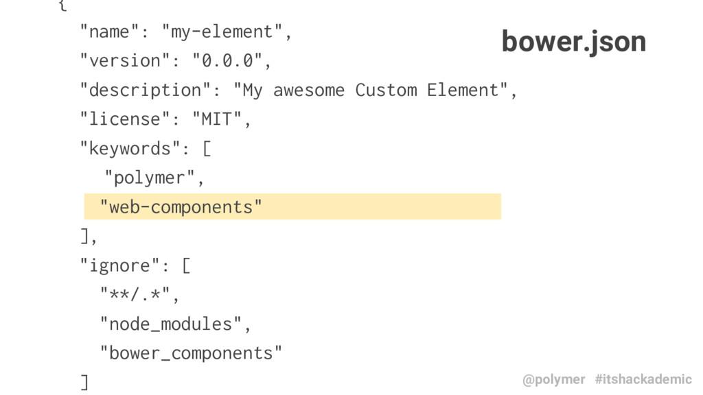 """{ """"name"""": """"my-element"""", """"version"""": """"0.0.0"""", """"de..."""