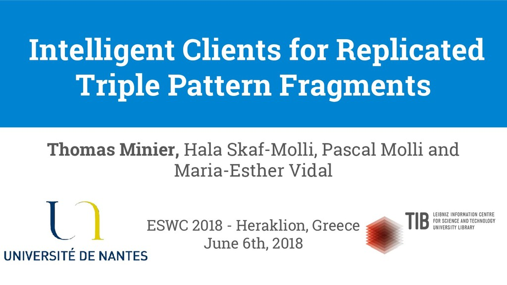 Intelligent Clients for Replicated Triple Patte...