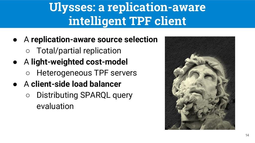 Ulysses: a replication-aware intelligent TPF cl...