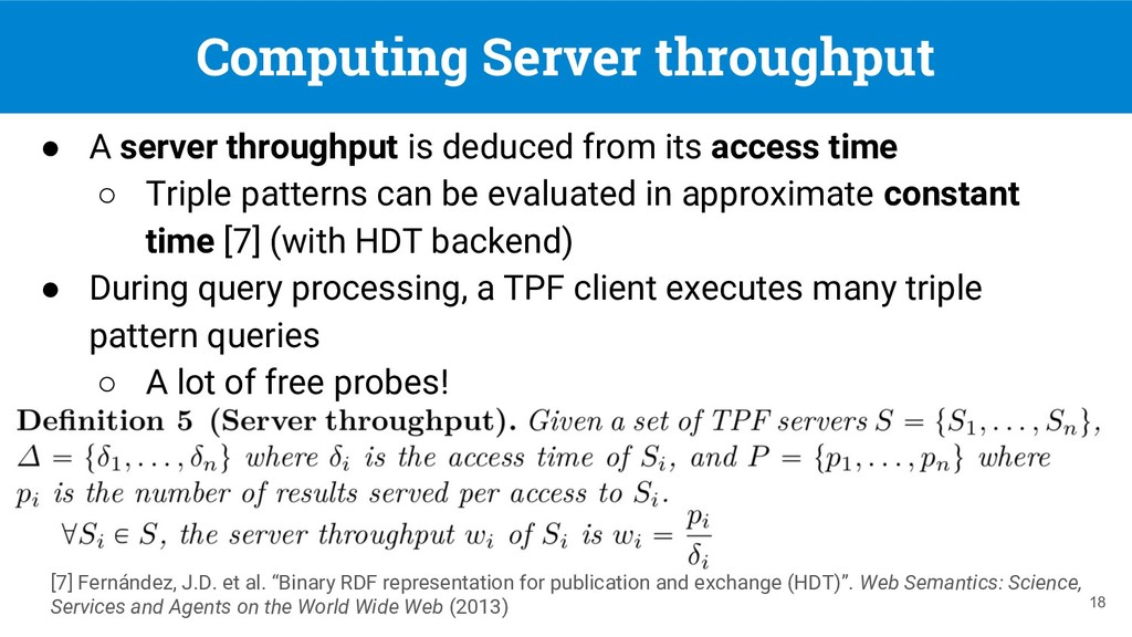 Computing Server throughput 18 ● A server throu...