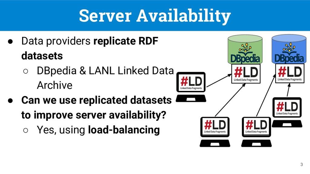 Server Availability ● Data providers replicate ...