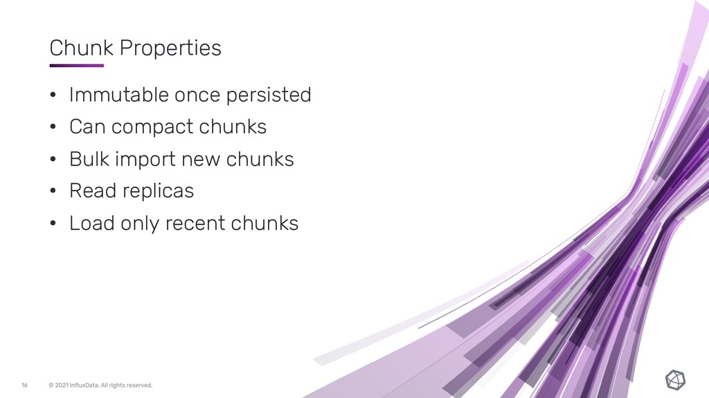 Chunk Properties • Immutable once persisted • C...
