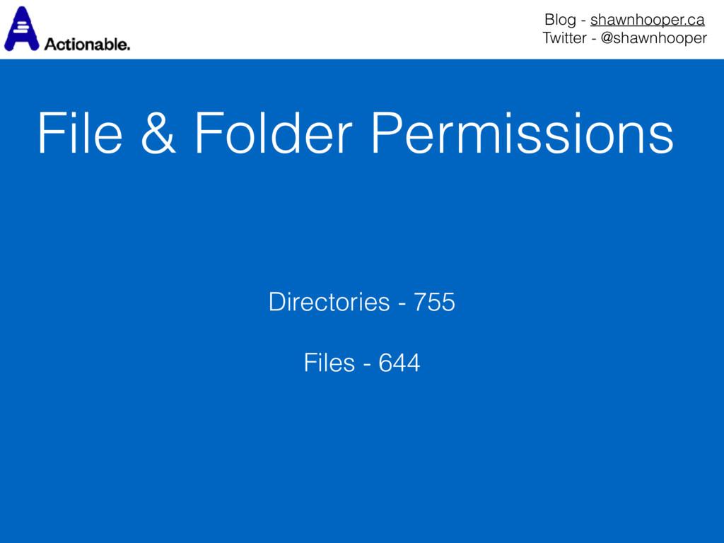 File & Folder Permissions Blog - shawnhooper.ca...