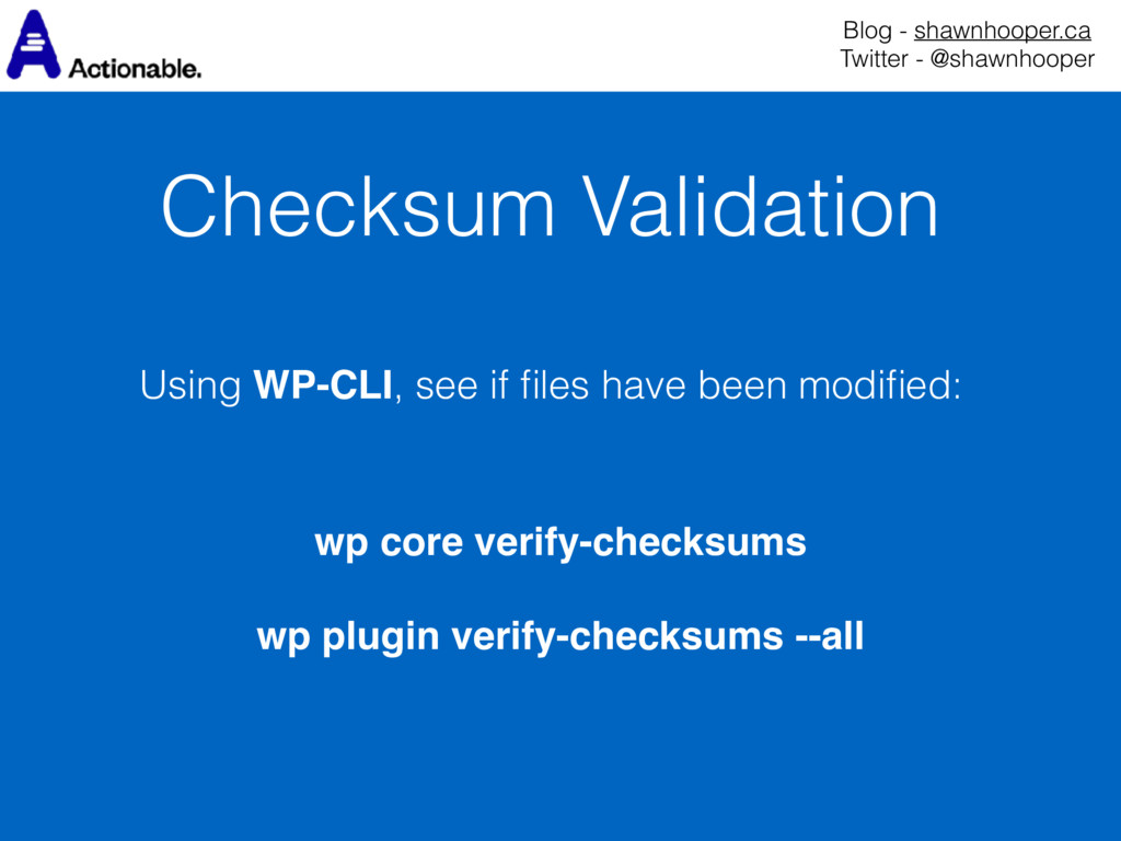 Checksum Validation Blog - shawnhooper.ca Twit...